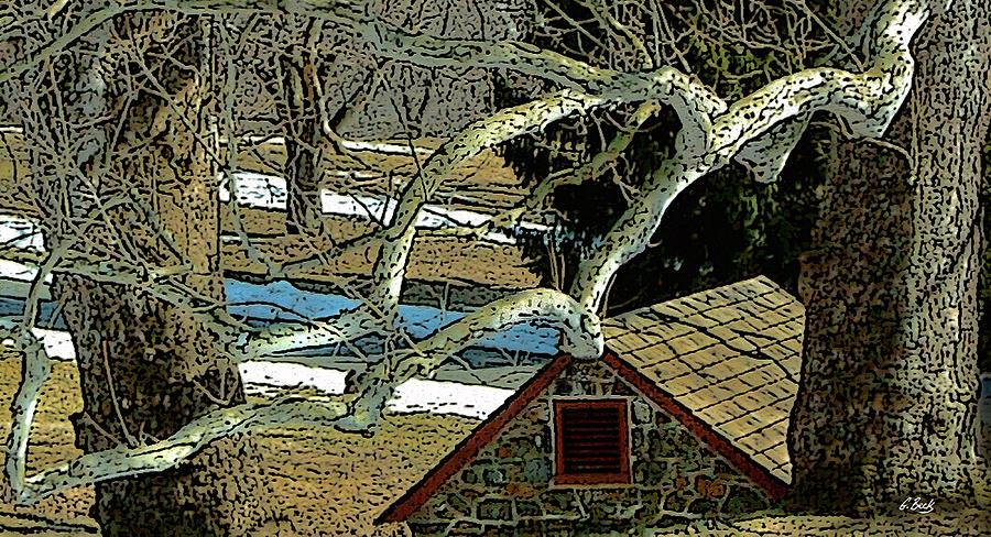Brandywine Pennsylvania Springhouse Snowy Rural Country Battlefield Historic Gordon Beck Art Photograph - Brandywine Springhouse by Gordon Beck