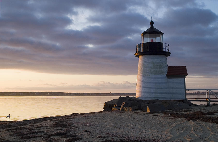 Nantucket Photograph - Brant Point Light Number 1 Nantucket by Henry Krauzyk