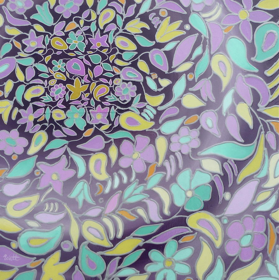 Abstract Painting - Brb - Be Right Back by Tammy Watt