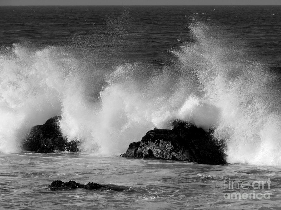 Breaking Wave At Pacific Grove Photograph