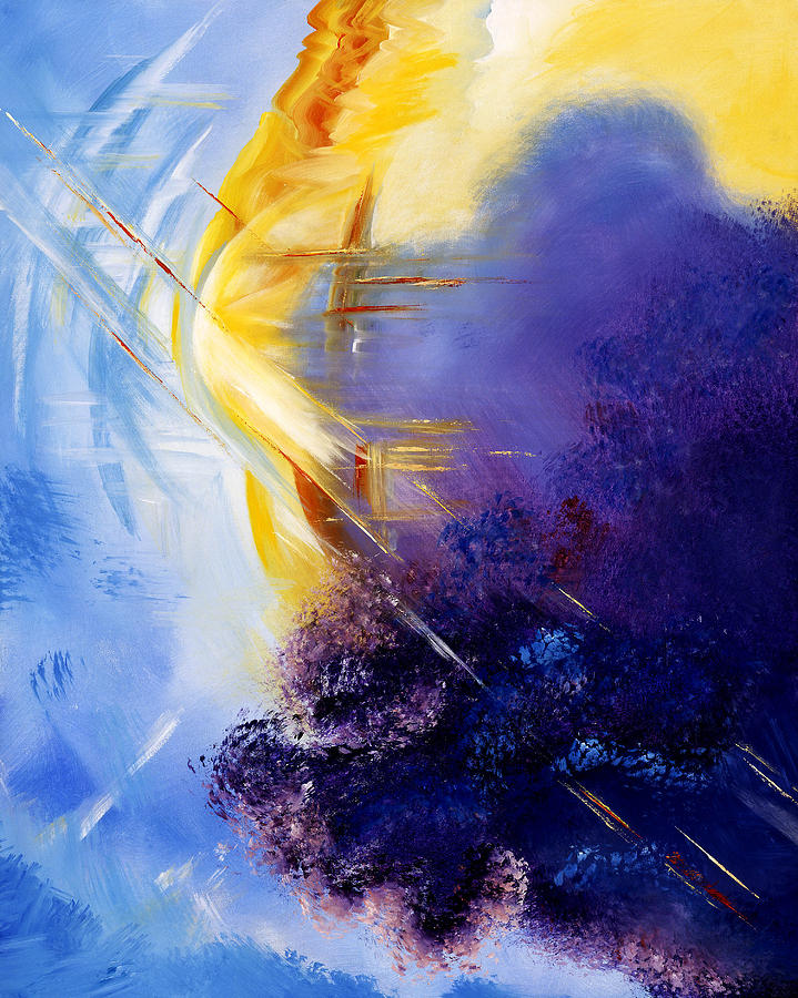 Abstract Painting - Breakthrough by Judy Ross