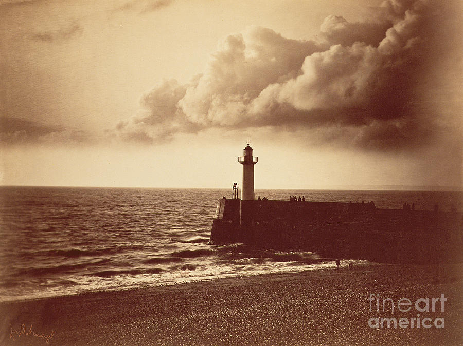 Old Photograph - Breakwater At Sete by Gustave Le Gray