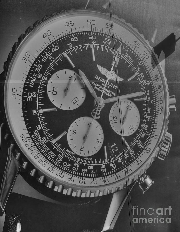 Billboard Photograph - Breitling Chronometer by David Bearden