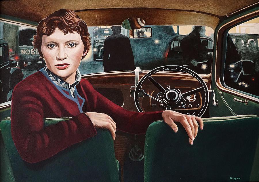 Car Interior Painting - Brenda King by Jo King