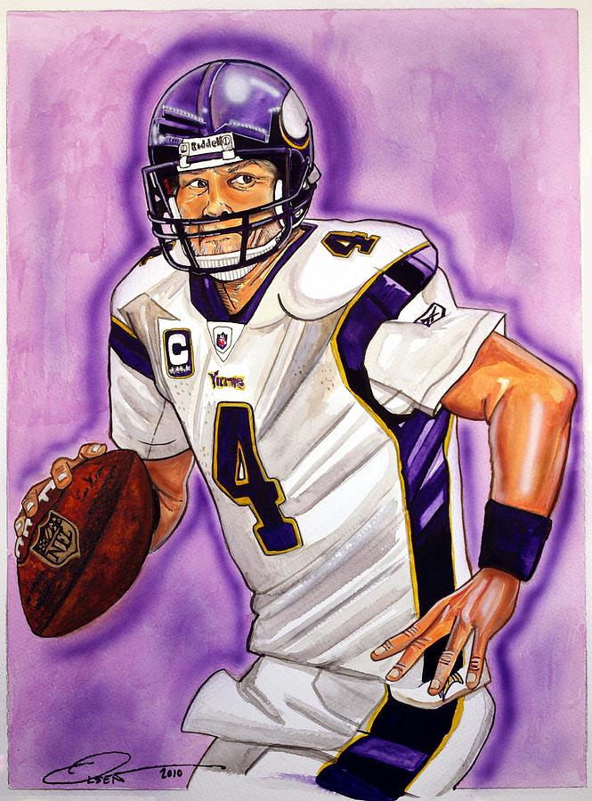 Brett Favre Painting