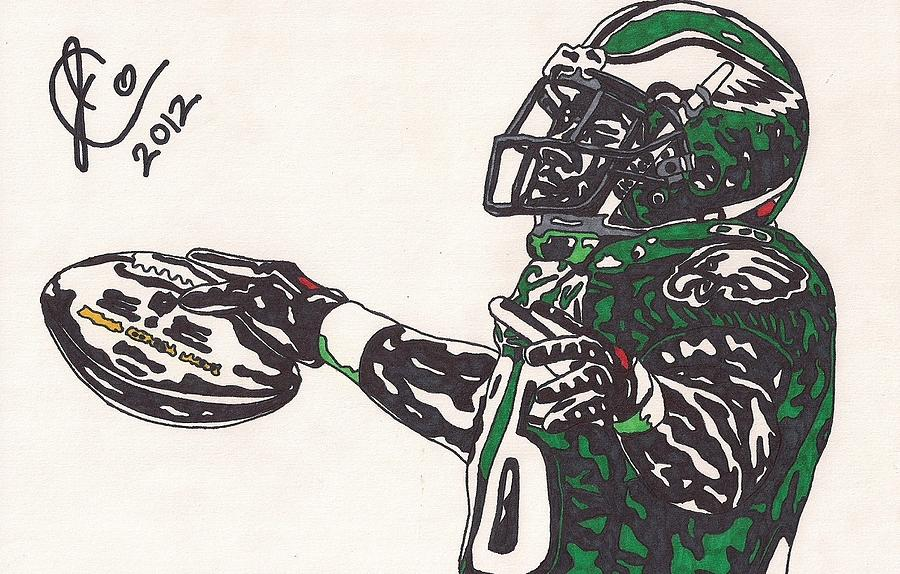 Philadelphia Eagles Drawings Drawing - Brian Westbrook 2 by Jeremiah Colley