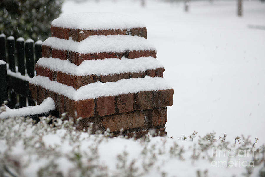 Brick Cover In Snow Photograph