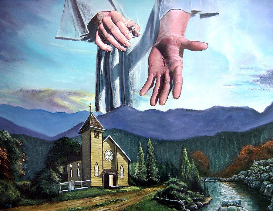 Bridegroom Painting - Bridegroom by Larry Cole