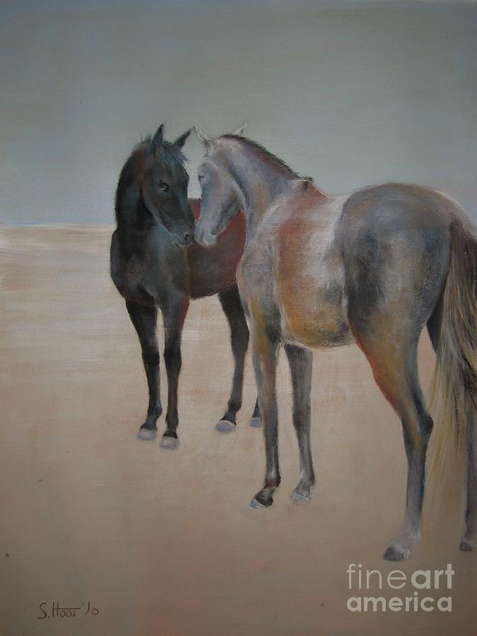 Horse Painting - Brief Encounter by Sabina Haas