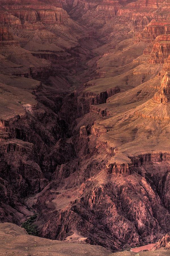 Arizona Photograph - Bright Angel Canyon Grand Canyon National Park by Steve Gadomski