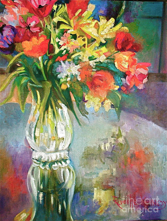 Oil Painting Painting - Bright Reflections by Reveille Kennedy