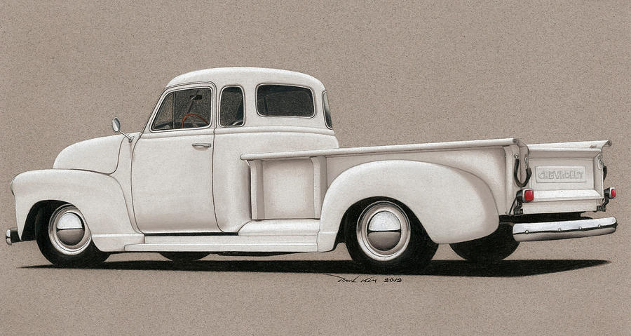 Automobile Drawing - Bright White 3100 Degrees by Paul Kim