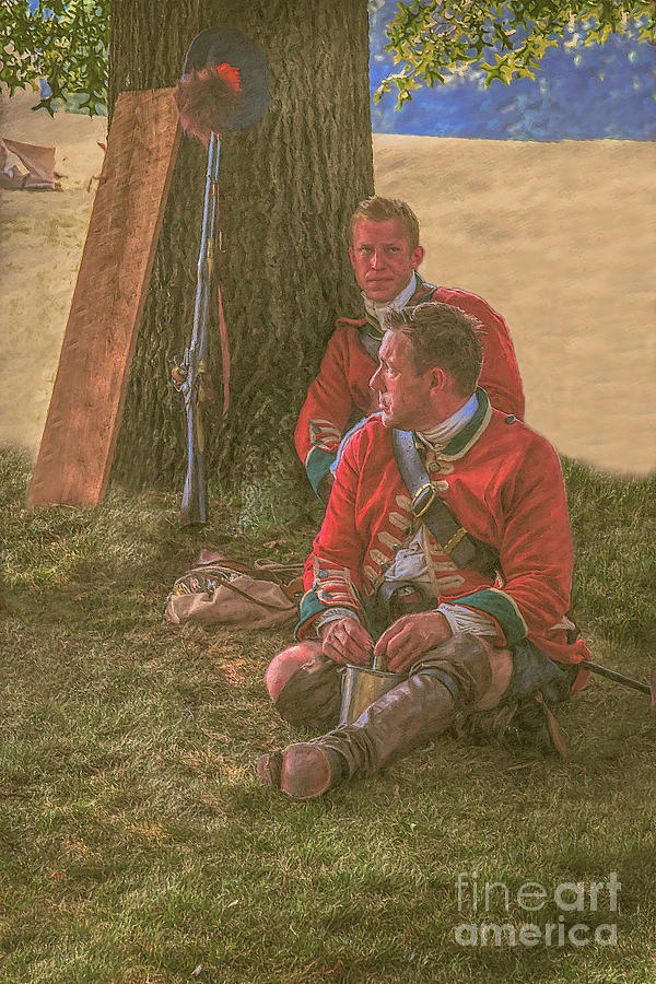 Uniform Digital Art - British Soldiers In Camp by Randy Steele