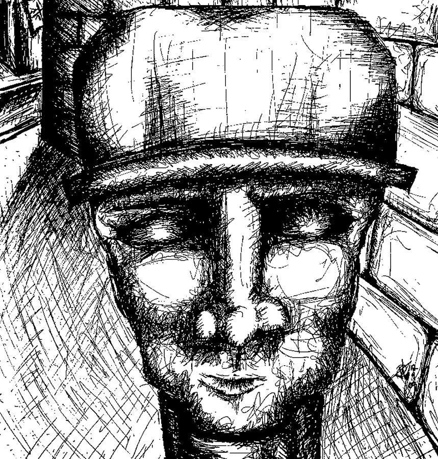 Creepy Drawing - Brixx Bw by Jera Sky