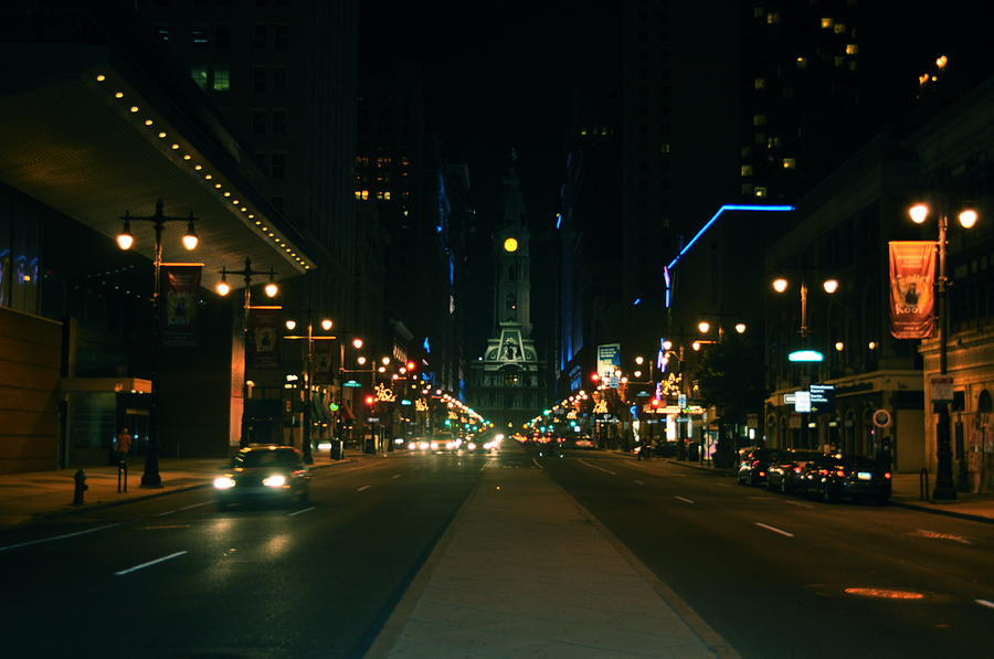 Lights Photograph - Broad Street Beauty  by Brynn Ditsche