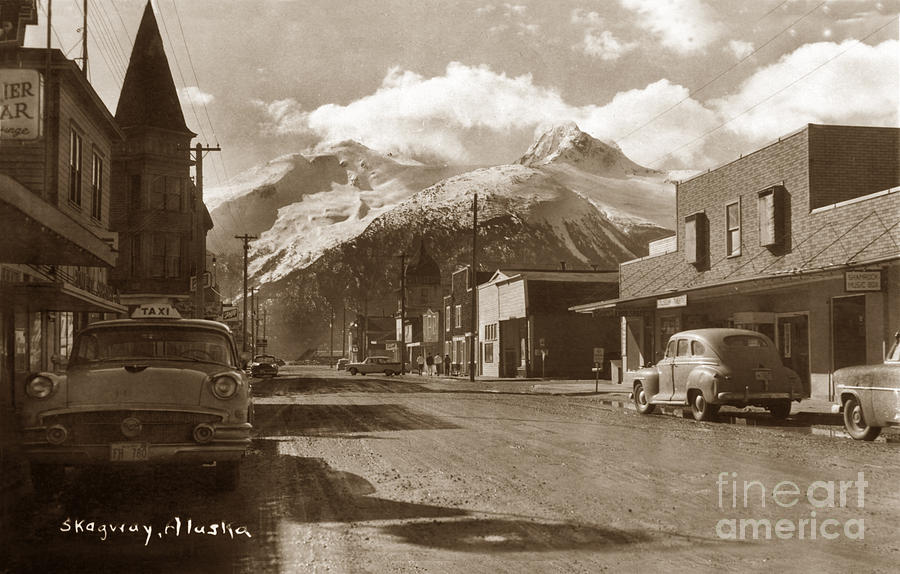 Broadway In Skagway Alaska Street Scene Circa 1957 is a photograph by ...