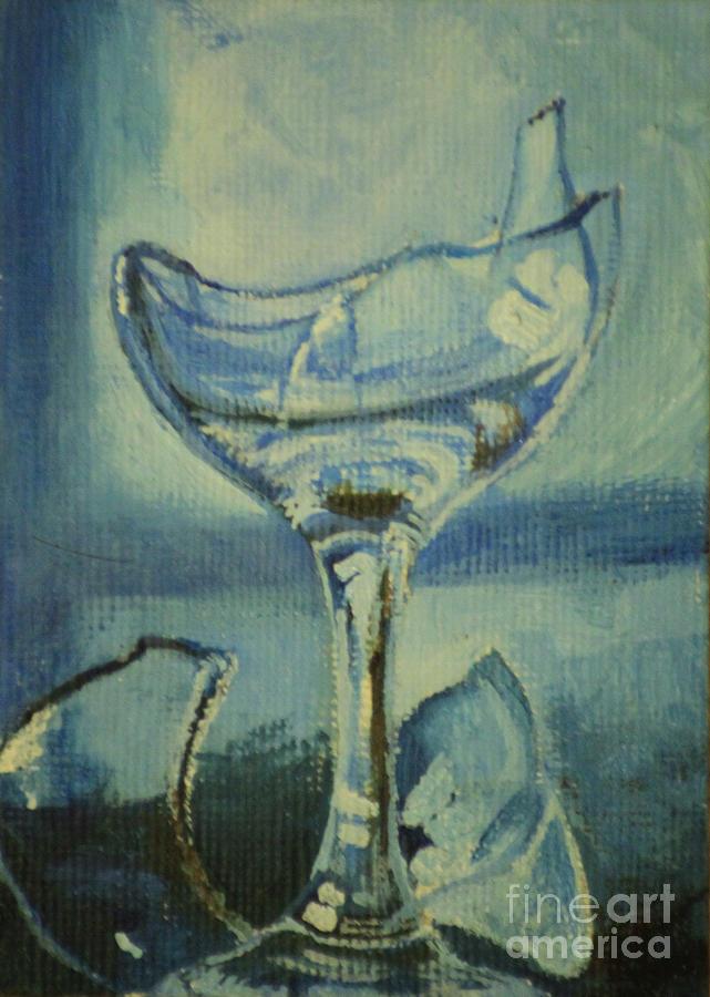 Top 60 Broken Wine Glass Clip Art, Vector Graphics and ...   Broken Wine Glass Painting