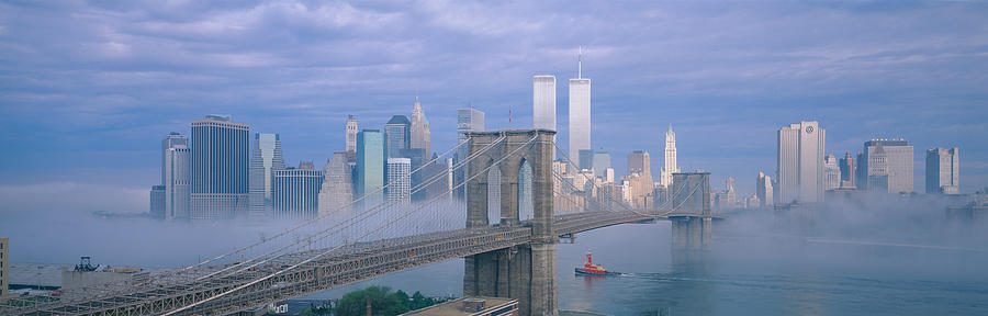 Brooklyn Bridge, East River, New York is a photograph by Panoramic ...