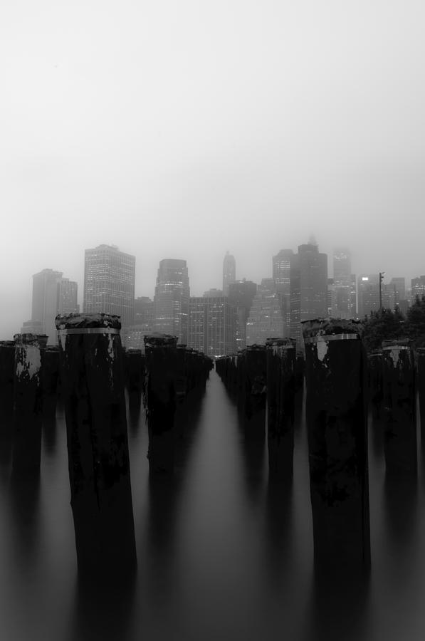 Brooklyn Photograph - Brooklyn Pilings by Jose Vazquez