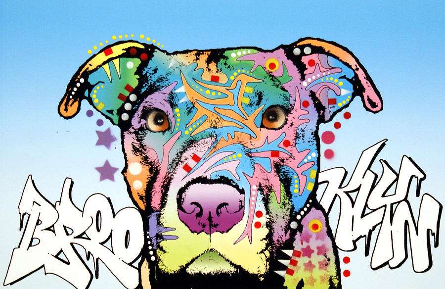 Pitbull Painting - Brooklyn Pit Bull 2 by Dean Russo