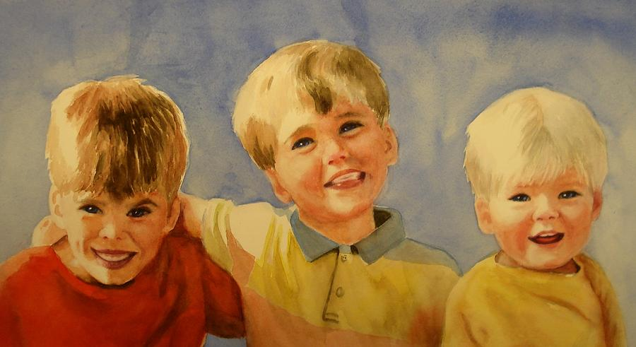 Brothers Painting - Brothers by Marilyn Jacobson