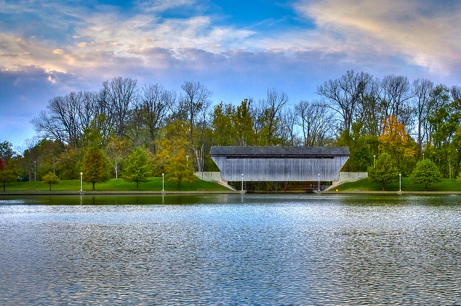 Indiana Photograph - Brownsville Covered Bridge by Jack R Perry