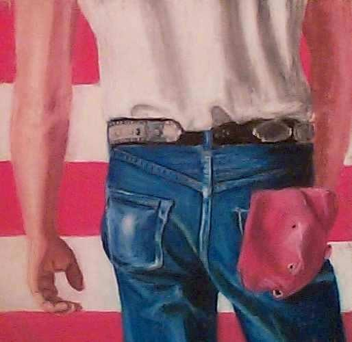 Bruce Springsteens Butt Pastel