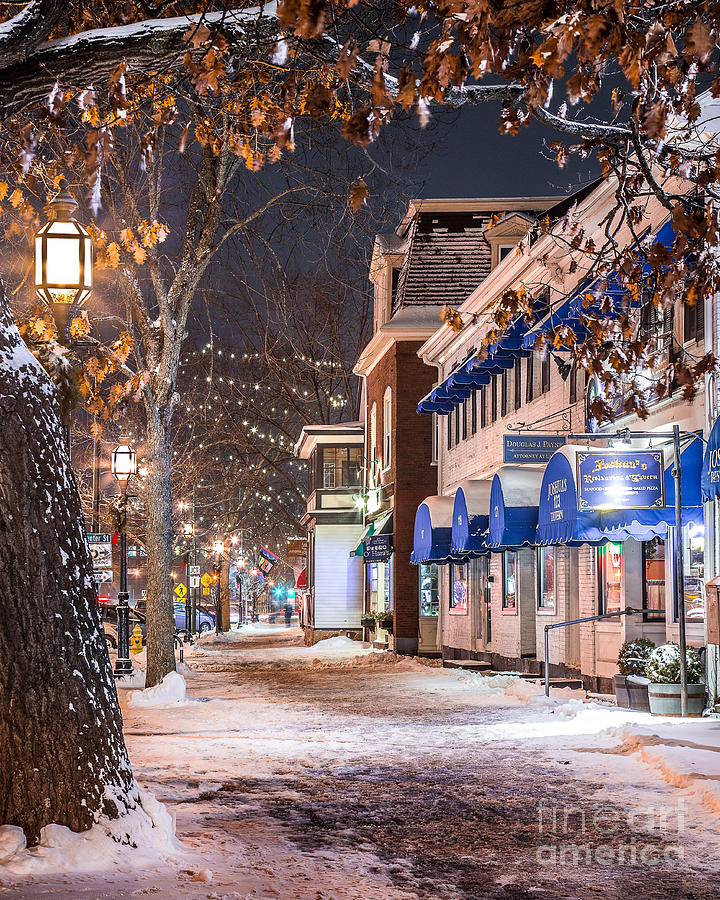 Brunswick Maine Street Scene Photograph By Benjamin Williamson