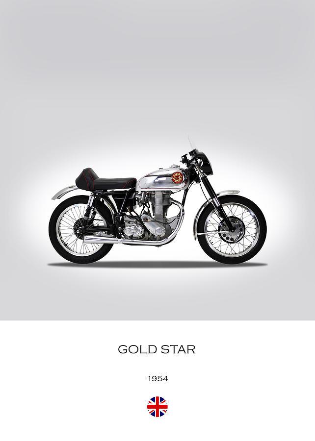 Bsa Gold Star Photograph - Bsa Gold Star 1954 by Mark Rogan