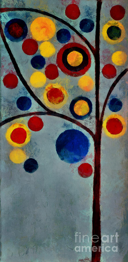Tree Painting - Bubble Tree - Dps02c02f - Left by Variance Collections