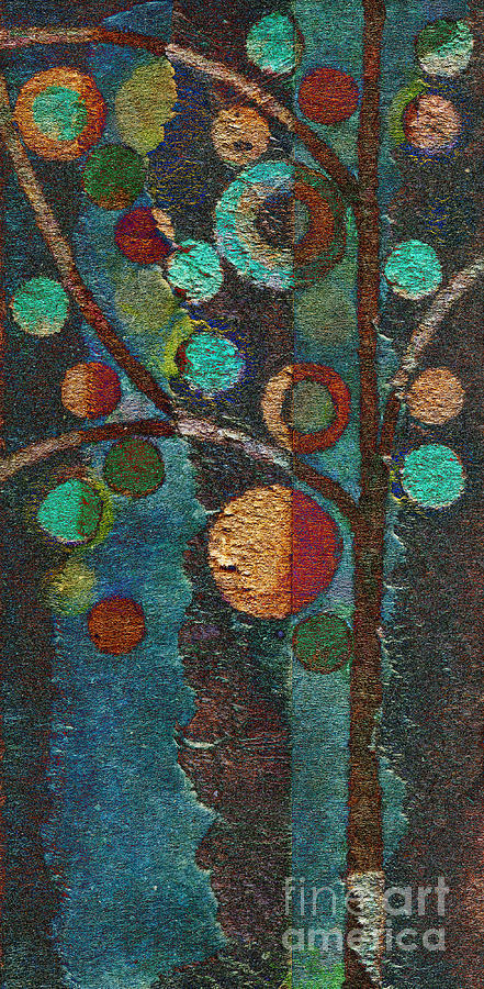 Tree Painting - Bubble Tree - Spc02bt05 - Left by Variance Collections