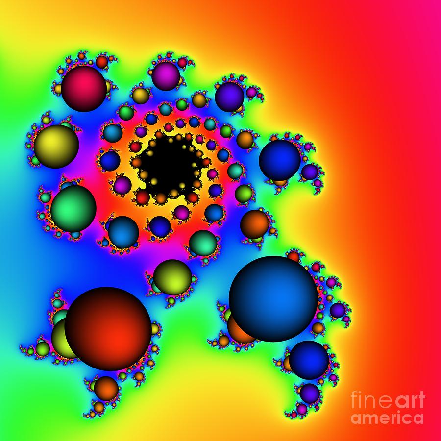 Abstract Digital Art - Bubbles Three by Rolf Bertram