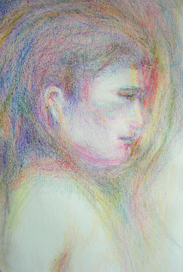 Buddha; Buddhism; Sacred Drawing; Meditation; Peace Drawing - Buddha by Laurie Parker