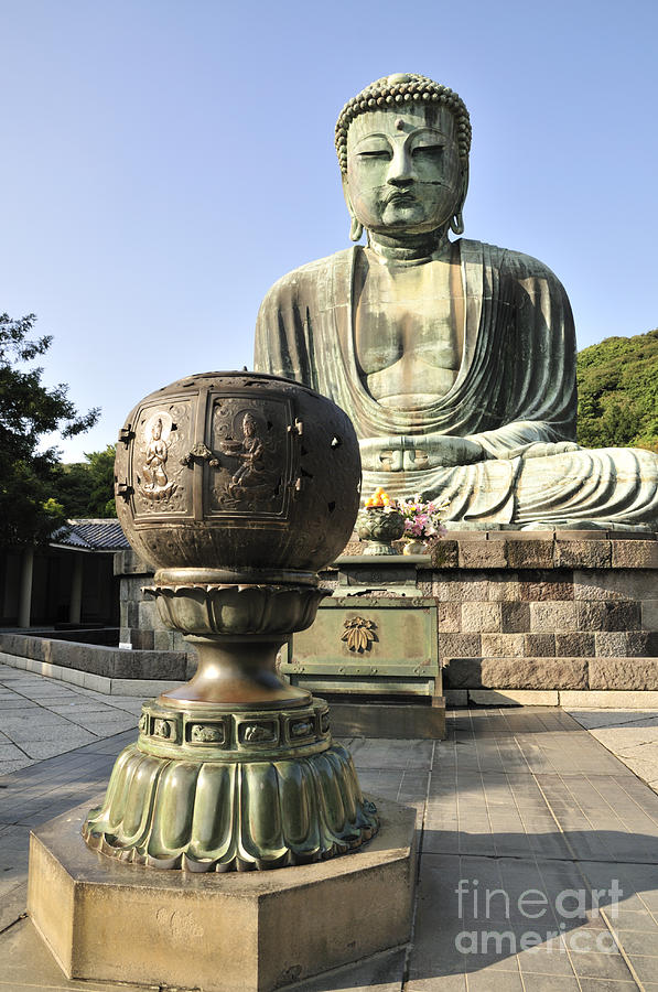 Kamakura Photograph - Buddha With Urn by Andy Smy