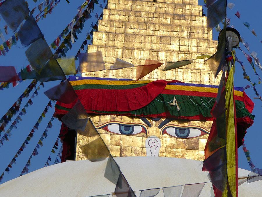 Swayambunath Photograph - Buddhas  Eyes by Dagmar Ceki