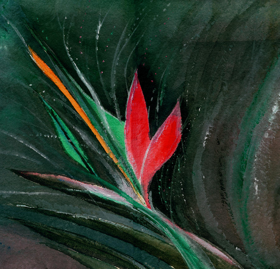 Flower Painting - Budding by Anil Nene