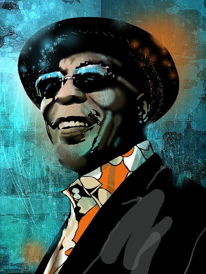 Blues Painting - Buddy Guy by Paul Sachtleben
