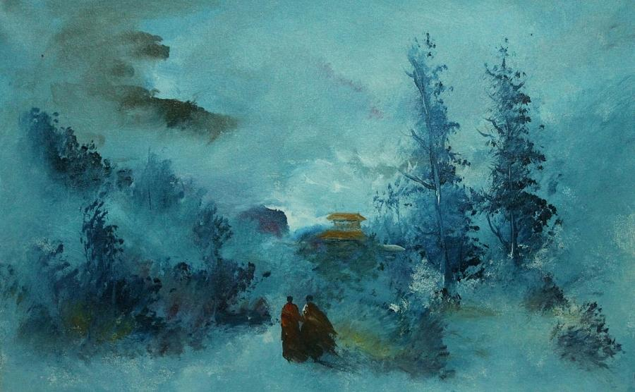 Paintings Painting - Budhha 786 Om by Sir