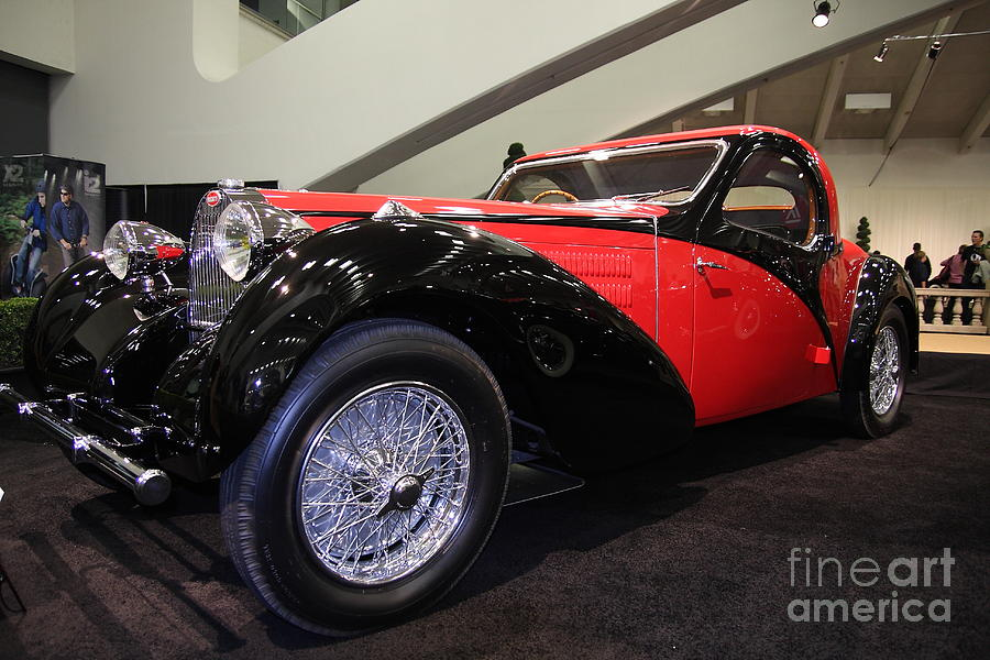Car Photograph - Bugatti Red by Wingsdomain Art and Photography