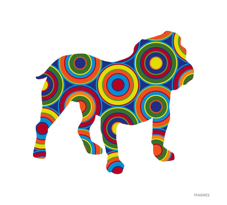 Animals Digital Art - Bulldog by Ron Magnes