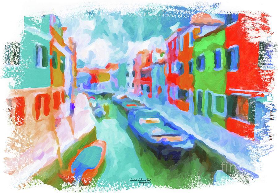 Burano, Venice, Italy Painting