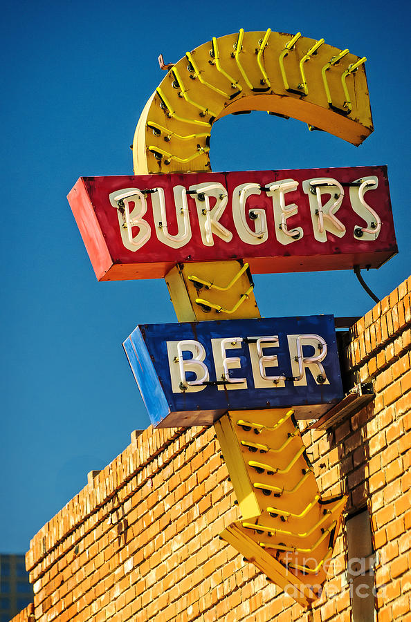 Advertisement Photograph - Burgers And Beer by Charles Dobbs
