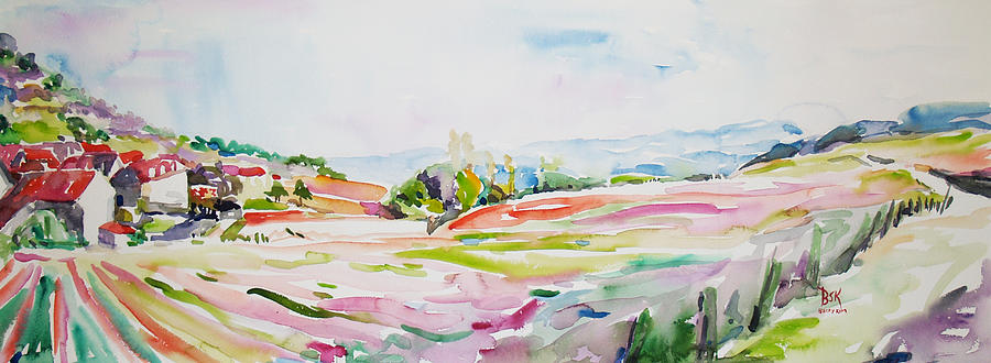 Landscape Painting - Burgundy France 1 by Becky Kim