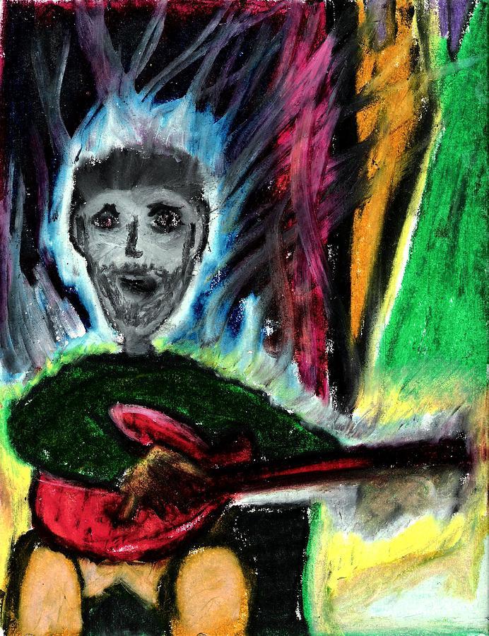 Guitar Pastel - Burning Desire by Levi Glassrock