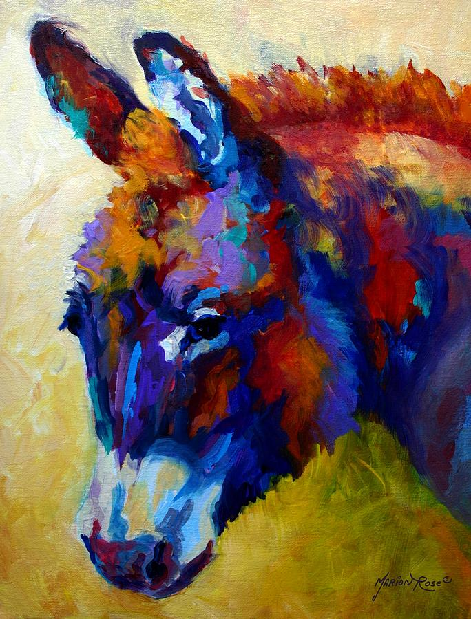 Western Painting - Burro II by Marion Rose