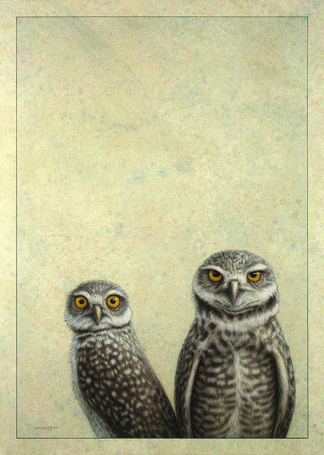 Burrowing Owls Painting