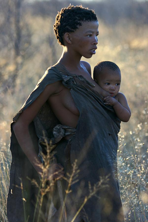 Bushmen Mother And Child Photograph