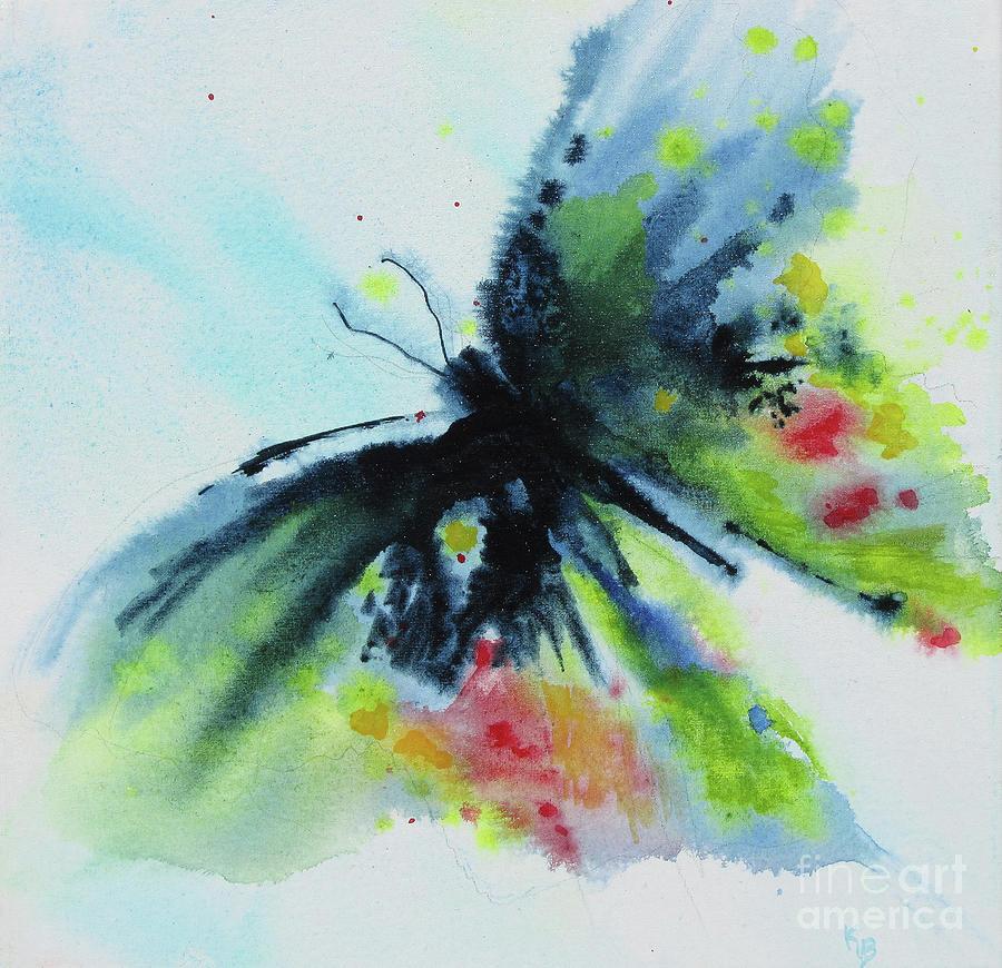 Butterfly Painting - Butterfly 1 by Karen Fleschler