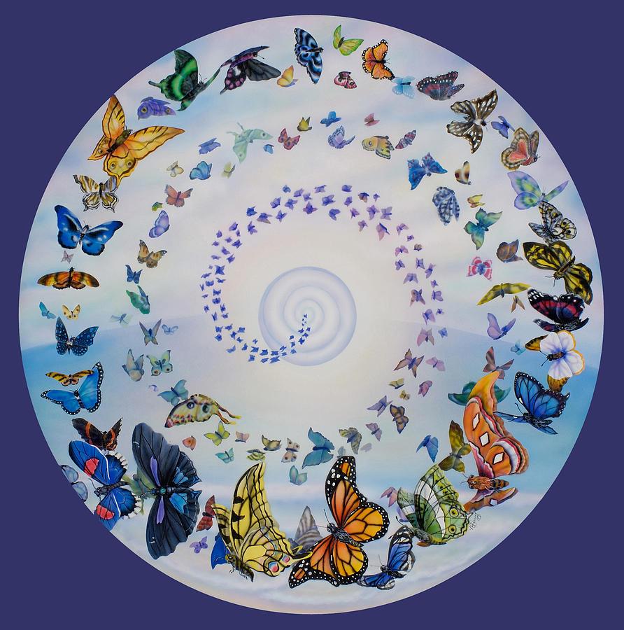 how to create a nature mandala