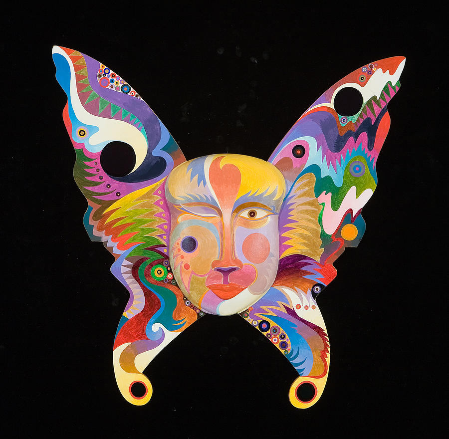 Nature Art Painting - Butterfly Mask by Bob Coonts